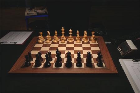 Шахматното табло в залата